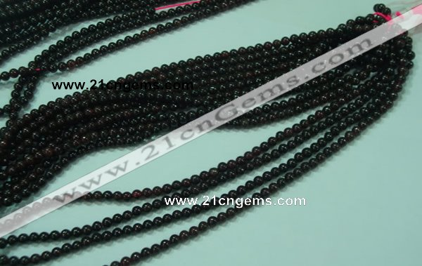 CTG22 15.5 inches 3mm round B grade tiny garnet beads wholesale