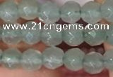 CTG2203 15 inches 2mm,3mm & 4mm faceted round green aventurine jade beads