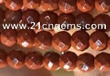 CTG2206 15 inches 2mm,3mm faceted round red jasper beads