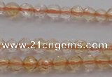 CTG221 15.5 inches 3mm faceted round tiny citrine beads