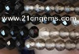 CTG2242 15 inches 2mm faceted round natural smoky quartz beads