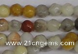 CTG300 15.5 inches 3mm faceted round ting crazy lace agate beads