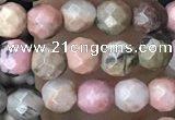 CTG3592 15.5 inches 4mm faceted round rhodonite beads wholesale