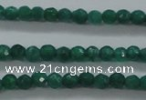 CTG414 15.5 inches 2mm faceted round tiny dyed candy jade beads