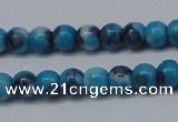 CTG454 15.5 inches 3mm round tiny dyed rain flower stone beads