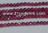 CTG617 15.5 inches 2mm faceted round mozambique red garnet beads