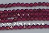 CTG618 15.5 inches 3mm faceted round mozambique red garnet beads