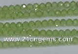 CTG630 15.5 inches 3mm faceted round peridot gemstone beads
