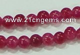 CTG68 15.5 inches 3mm round tiny dyed white jade beads wholesale