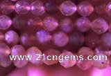 CTG722 15.5 inches 3mm faceted round tiny golden sunstone beads