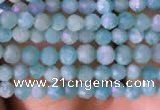 CTG764 15.5 inches 2mm faceted round tiny amazonite gemstone beads