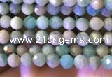 CTG774 15.5 inches 2mm faceted round tiny amazonite beads wholesale