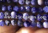 CTG779 15.5 inches 3mm faceted round tiny sodalite beads wholesale