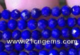 CTG785 15.5 inches 2mm faceted round tiny lapis lazuli gemstone beads