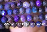 CTG792 15.5 inches 4mm faceted round tiny chrysocolla beads