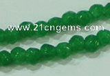 CTG87 15.5 inches 3mm faceted round tiny dyed white jade beads wholesale