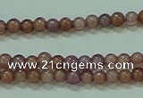 CTG89 15.5 inches 1.5mm round grade B tiny garnet beads wholesale