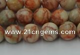 CTJ702 15.5 inches 8mm round red net jasper beads wholesale