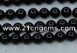 CTK01 15.5 inches 4mm round tektite gemstone beads wholesale