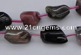 CTO395 15.5 inches 8*12mm - 10*14mm nuggets tourmaline gemstone beads