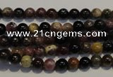 CTO399 15.5 inches 5mm round natural tourmaline gemstone beads