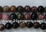 CTO452 15.5 inches 5mm round natural tourmaline gemstone beads