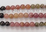 CTO52 15.5 inches 5.5mm - 6mm round natural tourmaline beads wholesale