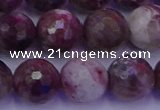 CTO616 15.5 inches 11mm faceted round tourmaline gemstone beads