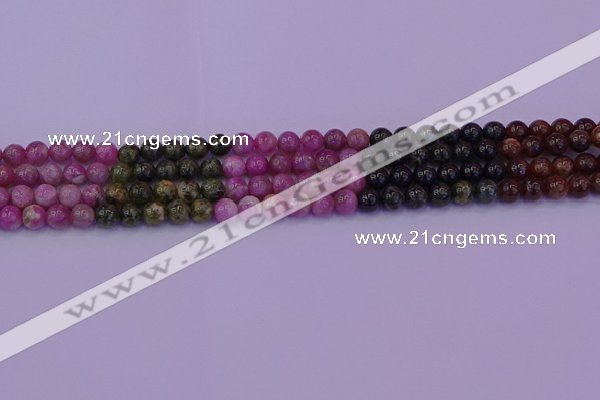 CTO627 15.5 inches 6mm round tourmaline gemstone beads wholesale