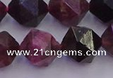 CTO653 15.5 inches 12mm faceted nuggets tourmaline gemstone beads