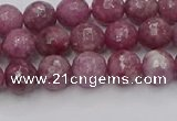 CTO657 15.5 inches 6mm faceted round Chinese tourmaline beads