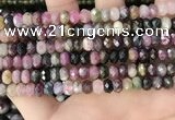 CTO680 15.5 inches 4.5*7mm - 5*8mm faceted rondelle tourmaline beads