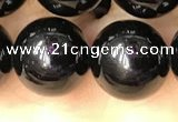 CTO704 15.5 inches 12mm round black tourmaline beads wholesale