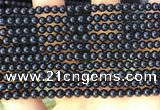 CTO710 15.5 inches 4mm round black tourmaline gemstone beads