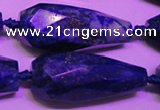 CTR208 16*35mm - 18*43mm faceted teardrop lapis lazuli beads