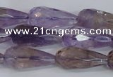 CTR300 15.5 inches 12*25mm faceted teardrop natural ametrine beads
