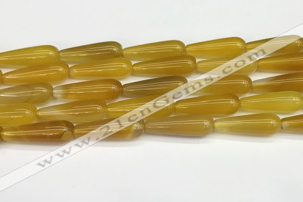 CTR415 15.5 inches 10*30mm teardrop agate beads wholesale