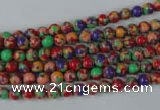 CTU1050 15.5 inches 4mm round synthetic turquoise beads wholesale