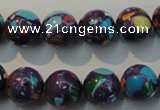CTU2114 15.5 inches 12mm round synthetic turquoise beads
