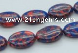 CTU232 16 inches 13*18mm oval imitation turquoise beads wholesale