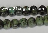 CTU2460 15.5 inches 6*6mm pumpkin African turquoise beads wholesale