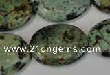 CTU2477 15.5 inches 22*30mm oval African turquoise beads wholesale
