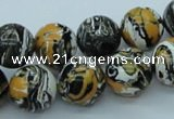 CTU258 16 inches 14mm round imitation turquoise beads wholesale