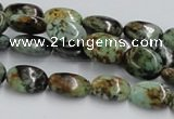 CTU413 15.5 inches 10*14mm oval African turquoise beads wholesale