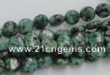 CTU415 15.5 inches 8mm flat round African turquoise beads wholesale