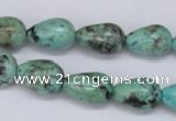CTU437 15.5 inches 10*15mm teardrop African turquoise beads wholesale