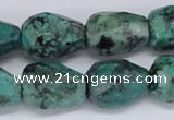 CTU444 15.5 inches 14*18mm faceted teardrop African turquoise beads wholesa