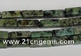 CTU487 15.5 inches 4*13mm cuboid African turquoise beads wholesale