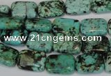 CTU495 15.5 inches 10*14mm rectangle African turquoise beads wholesale