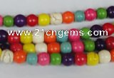 CTU701 15.5 inches 6.5mm round dyed turquoise beads wholesale